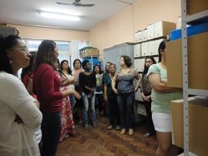 Visitação a Sala de Arquivo, Tratamento e Conservação - CEPEMHEd/IEGRS